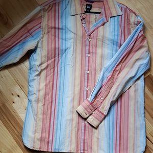 Mens striped dress shirt